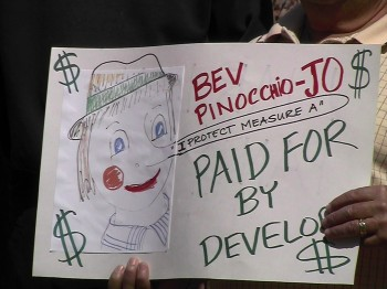 """Mayor Bev Pinocchio-Jo"""