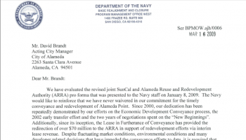 $70 million in Lease Revenue from Alameda Point Tenants